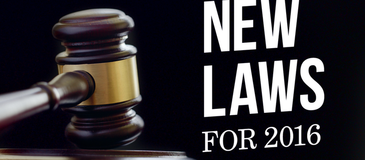 2016 New Laws